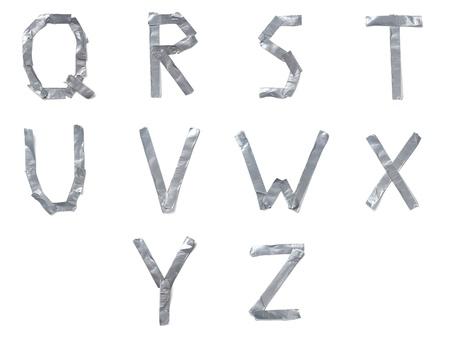 ?tapes: Lettres de ruban Banque d'images