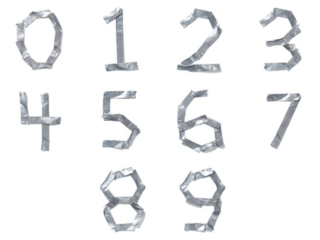 tear duct: Numbers made out of tape