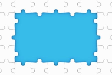 Puzzle pieces frame