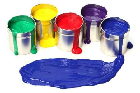 Cans of paint Stock Photo - 10182843