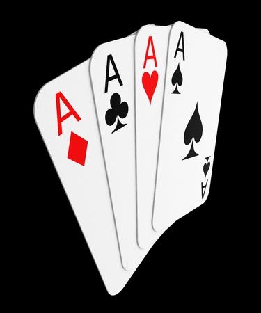 four hands: Four aces