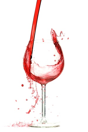 Wine splashing