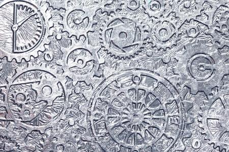 gears: Metal fondo abstracto