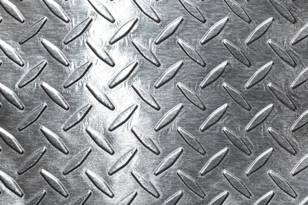aluminum: Shiny diamond plate background Stock Photo