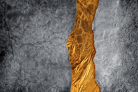 shiny metal background: Silver and gold background