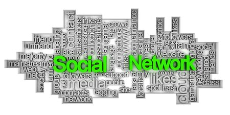 Social network tag cloud Stock Photo - 10182802