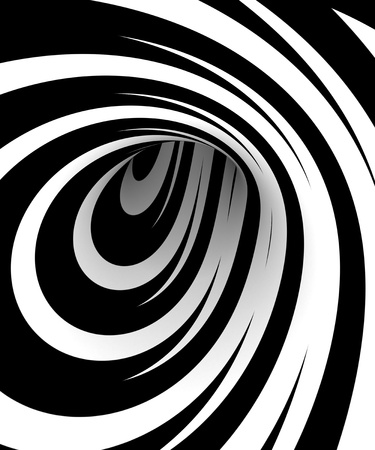 black and white: Abstract black and white spiral Stock Photo