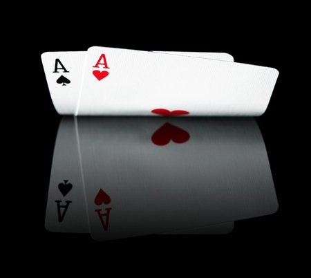 ace of clubs: Pair of Aces