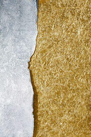 foil: Argento e oro sfondo
