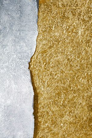 foil: Silver and gold background