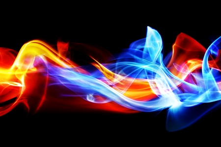 colourful fire: Fire and ice