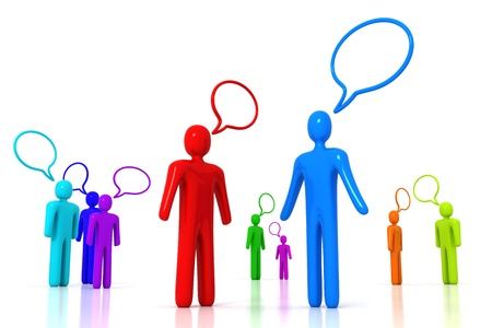 gossip: Mensen praten Stockfoto