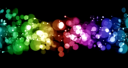 rainbow background: Abstract lights