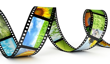 film industry: Film strip with images