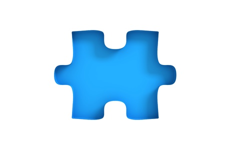 Puzzle with missing piece photo