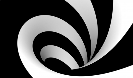 Abstract black and white spiral Stock Photo