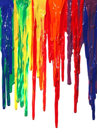 paint dripping: Different colors of paint dripping