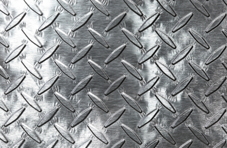shiny metal background: Shiny diamond plate background Stock Photo