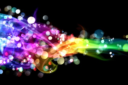 light color: Colorful smoke and lights Stock Photo