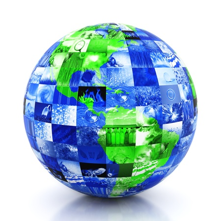 Earth made of photos Stock Photo - 10486908