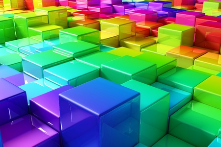 metal structure: Colorful cubes