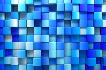 geometric pattern in a square: Blue boxes background Stock Photo