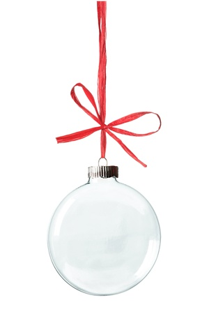empty space: Empty Christmas ornament