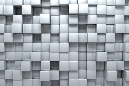 square pattern: Silver boxes Stock Photo