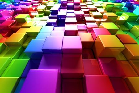 Colorful cubes photo