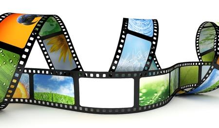 Film met beelden en lege ruimte