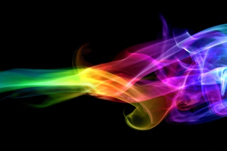 Colorful smoke photo