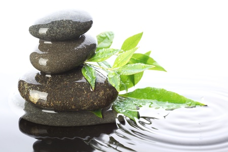 stacked stones: Stacked stones in water