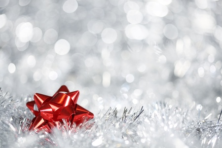 Silver Christmas background photo