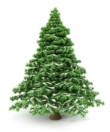 雪のクリスマス ツリー