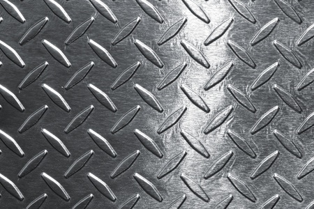 industrial background: Shiny diamond plate background Stock Photo