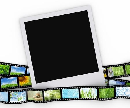 空白の写真フィルム