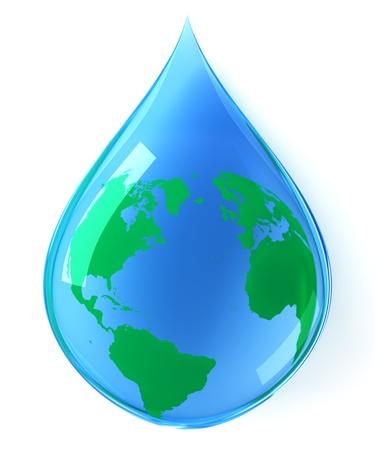 Earth water drop Standard-Bild