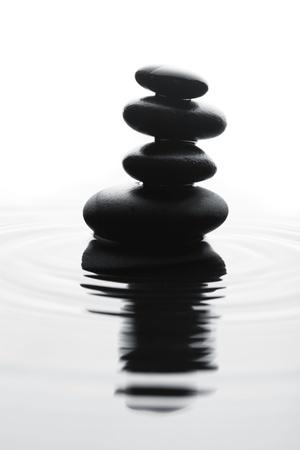 white pebble: Stones in water Stock Photo
