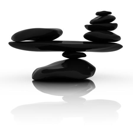 zen steine: Gestapelte Steine Lizenzfreie Bilder
