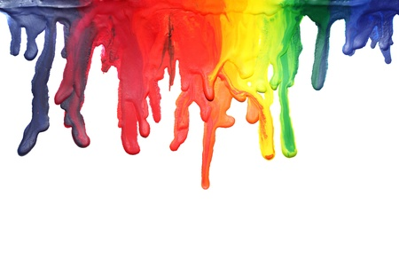 primary colors: Paint dripping