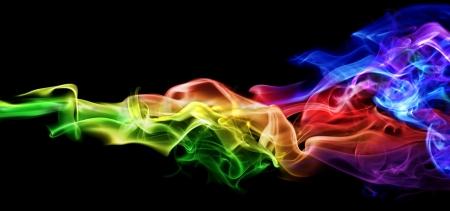 Kleurrijke rook Stockfoto