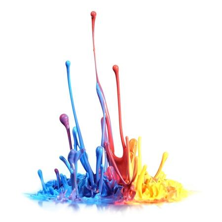 splash paint: Colorful paint splash
