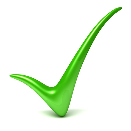 ticks: Green check mark Stock Photo