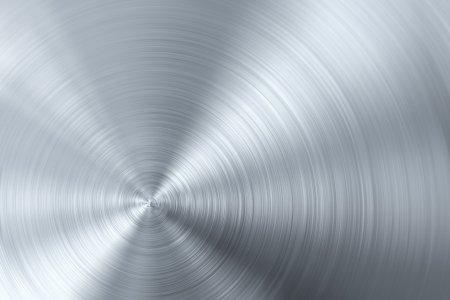 Circular brushed metal photo