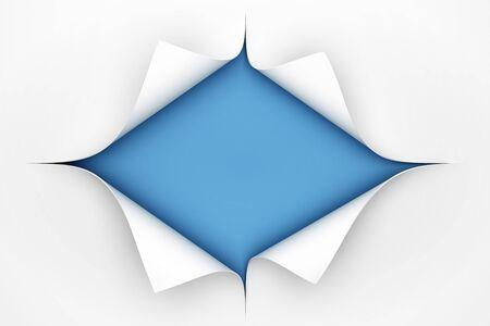 paper curl: Curvatura del papel - 3D render Foto de archivo