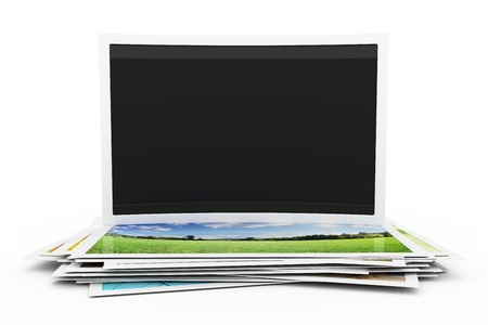 stock photograph: Collection of photos with an empty photo