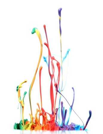 Colorful paint splash Stock Photo - 14815815