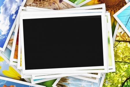 Sammlung von Fotos mit einem leeren Foto