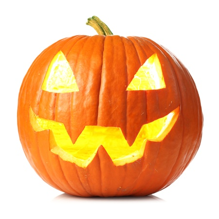 carved pumpkin: Jack-o-lantern Stock Photo