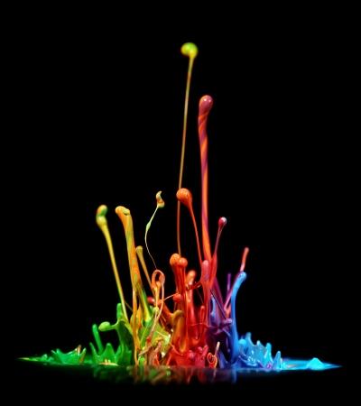 Claboussures de peinture colorée Banque d'images - 16565846